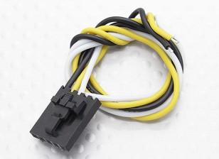 Molex de 3 pines del conector macho Cable de 230 mm x 26 AWG.