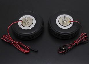"""Turnigy eléctrico 66mm Sistema de freno magnético (2.5 """") de la rueda (2 piezas)"""