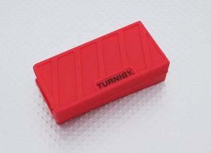 Turnigy suave de silicona protector de la batería de Lipo (3S 1000-1300mAh rojo) 74x36x21mm