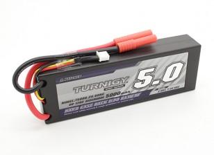 Turnigy 5000mAh 2S 7.4V Estuche duro paquete de 60C