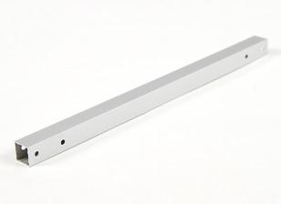 Aluminio Tubo cuadrado de bricolaje Multi-Rotor 12.8x12.8x230mm X525 (.5Inch) (plata)