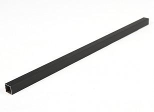 Aluminio Tubo cuadrado de bricolaje 15x15x400mm Multi-Rotor (negro)