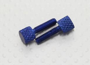 M4 anodizado de la aleación Tapa de protección tornillos de mariposa (2pcs / bolsa)