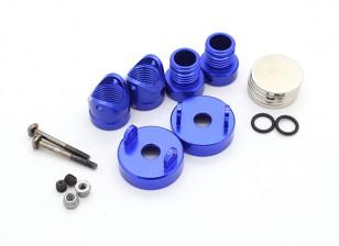 Invisibles Cuerpo de aluminio del montaje de montantes (2pcs) Azul