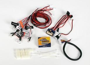 Sistema de iluminación Canal Hobbyking Profesional 4 para carros y los coches