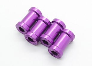 20 mm CNC de aluminio Soportes de separación (púrpura) 4pcs