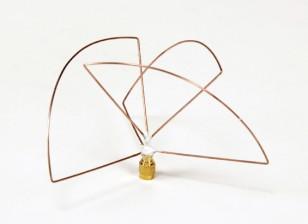 1.2ghz circular polarizado transmisor de la antena (RP-SMA) (LHCP) (corto)