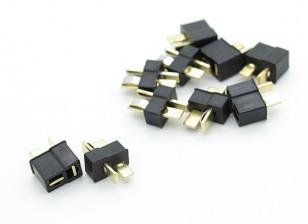 Mini conector del paquete de T Negro (5 pares)