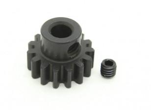 15T / 5 mm de acero templado M1 engranaje de piñón (1 unidad)
