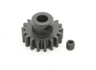 18T / 5 mm de acero templado M1 engranaje de piñón (1 unidad)