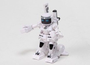 2 canales Mini R / C Batalla Robot con el cargador (blanco)