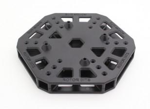 RotorBits HexCopter Centro de montaje (Negro)