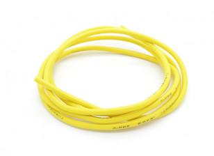 Turnigy Pure-silicona de alambre de 16 AWG 1m (amarillo)