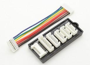 tablero de adaptador para baterías 2S-6S LIPOLY con HP / PQ Balanza Tapones