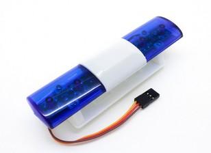 Sistema de iluminación LED de la policía del coche Estilo Oval (azul)