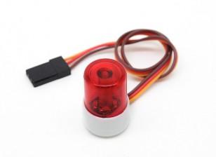 Estilo del coche de policía LED de luz del faro (rojo)