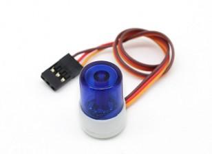 Estilo del coche de policía LED de luz del faro (azul)