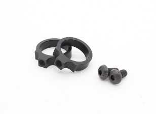 EX313 elemento LR linterna táctica anillos de montaje de 0,76 pulgadas (Negro, 2pcs / pack)