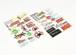 Arte de la nariz - Varios estilos auto-adhesivo 205 x 300 mm Sheets (2 piezas)