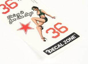 Nose Art - Hacerlo para los muchachos 250 x 85 mm auto-adhesivo de la etiqueta Conjunto