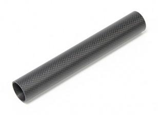30 x 27 x 200 mm Tubo de fibra de carbono (3K) de la armadura llana final de Matt