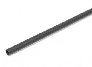 6 x 4 x 750mm Tubo de fibra de carbono (3K) de la armadura llana final de Matt