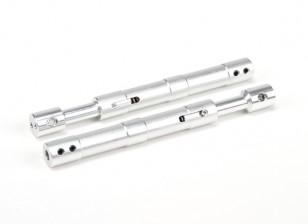 Aleación recta Oleo puntales 115 mm (2pcs)