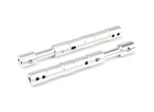 Aleación recta Oleo puntales 100 mm (2pcs)