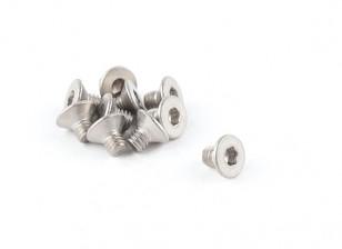 Titanio M4 x 6 avellanada hexagonal del tornillo (10pcs / bag)