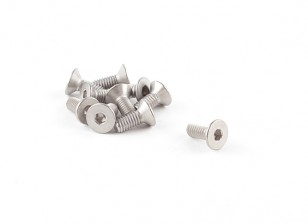 Titanio avellanada M4 x 10 Tornillo hexagonal (10pcs / bag)