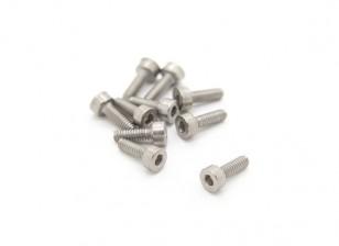 Titanio M2 x 6 Sockethead tornillo hexagonal (10pcs / bag)