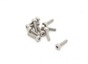 Titanio M2 x 8 Sockethead tornillo hexagonal (10pcs / bag)