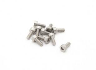 Titanio M2.5 x 6 Sockethead tornillo hexagonal (10pcs / bag)