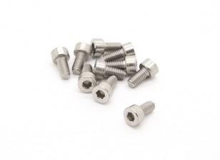 Titanio M4 x 8 Sockethead tornillo hexagonal (10pcs / bag)