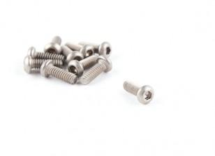Titanio M2 x 6 Bottonhead tornillo hexagonal (10pcs / bag)