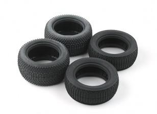 Neumáticos delanteros y traseros conjunto (4pcs) - BSR Racing BZ-222 1/10 2WD Racing
