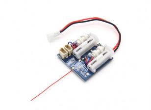 2.4Ghz Sistemas SuperMicro - DSM2 receptor compatible w / cepillado ESC, servos lineales
