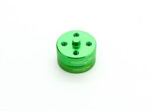El aluminio CNC de liberación rápida auto-apriete Prop sistema de adaptadores - Verde (en sentido horario)