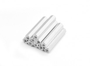 Sección de aluminio ligero Hex Spacer M3 x 29mm (10pcs / set)