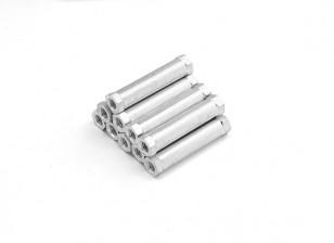Ligera Ronda de aluminio Sección espaciador M3 x 24 mm (10pcs / set)