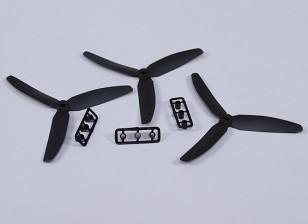 HobbyKing ™ 3 pala de la hélice 5x3 Negro (CCW) (3pcs)