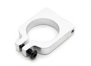Plata anodizado a una cara CNC de aluminio tubo de sujeción 20 mm Diámetro