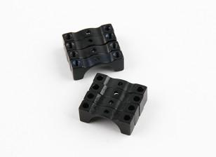 Negro anodizado de doble cara CNC de aluminio tubo de sujeción 12 mm Diámetro
