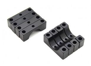 Negro anodizado de aluminio de 4,5 mm CNC tubo de sujeción 10 mm Diámetro