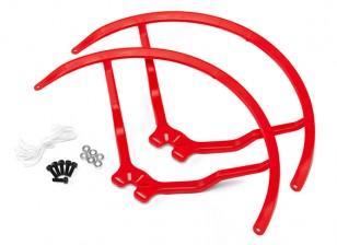 9 pulgadas de plástico universal multi-rotor hélice Guardia - Rojo (2set)