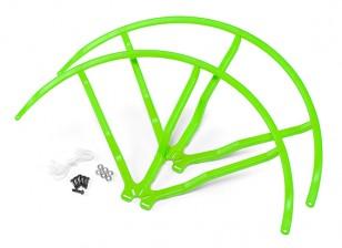 12 pulgadas de plástico universal multi-rotor hélice Guardia - Verde (2set)