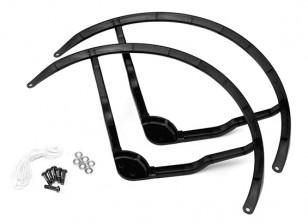 9 pulgadas de plástico multi-rotor hélice Guard para DJI Fantasma 2 - Negro (2set)