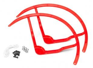 9 pulgadas de plástico multi-rotor hélice Guard para DJI Fantasma 2 - Red (2set)