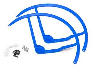 9 pulgadas de plástico multi-rotor hélice Guard para DJI Fantasma 2 - Azul (2set)