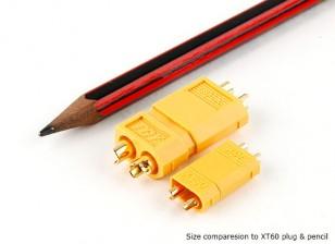 Conectores de corriente de 30 A XT30 para aplicaciones continuas (lateral de la batería) (5pcs)